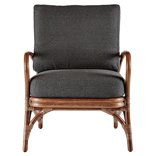 Soren Occasional Chair, Walnut/Charcoal