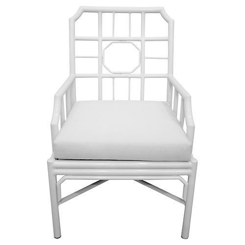Milton Outdoor Armchair, White