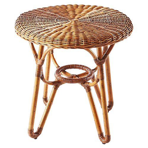 "Bodega 20"" Round Side Table, Natural"
