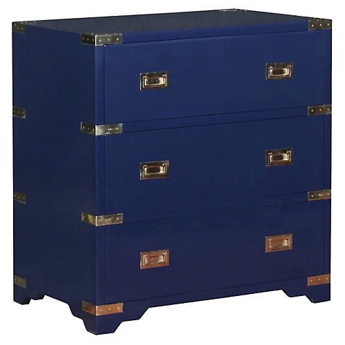Kimber Campaign Nightstand, Navy