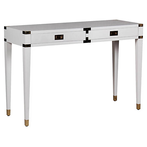 "Kimber 46"" Console Table, White"