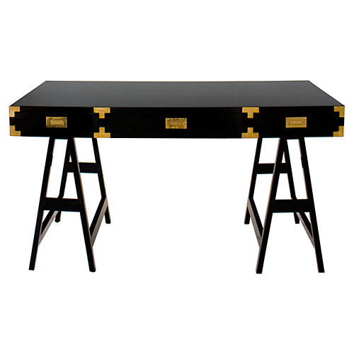 Kimber Study Desk, Black