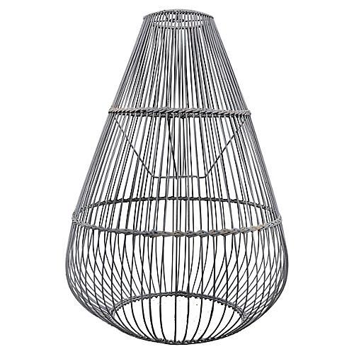 Ray Bamboo Pendant, Gray Wash