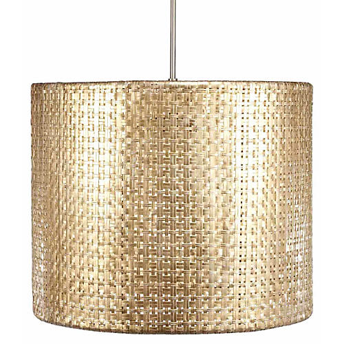 Seline Drum Pendant Light, Metallic