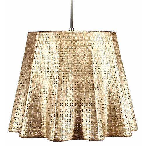 Seline Drapery Pendant Light, Metallic