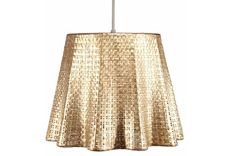 Seline Drapery Pendant Light, Metallic