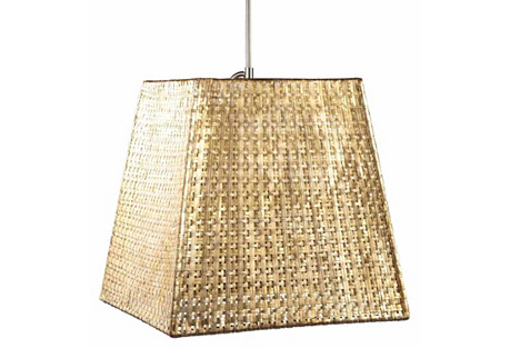 Seline Square Tapered Pendant, Metallic