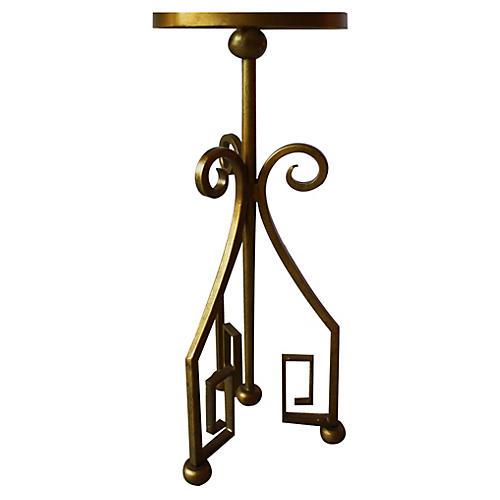 """Mykinos 9"""" Side Table, Greek Key"""