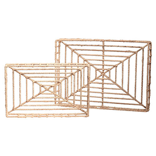 Asst. of 2 Vineyard Rectangle Trays