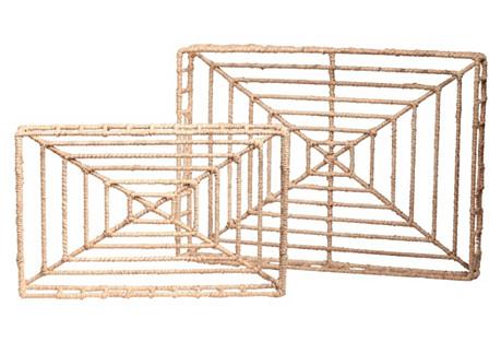 Asst. of 2 Vineyard Rectangle Trays