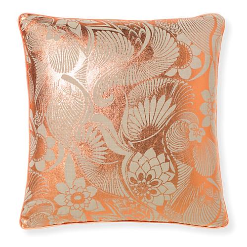 Aubrey Rose 20x20 Pillow, Gold