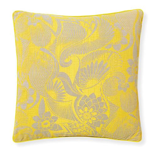 Aubrey Sunshine 20x20 Pillow, Yellow