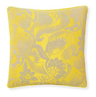 Aubrey Sunshine 20x20 Pillow Yellow Poolside Style Outdoor