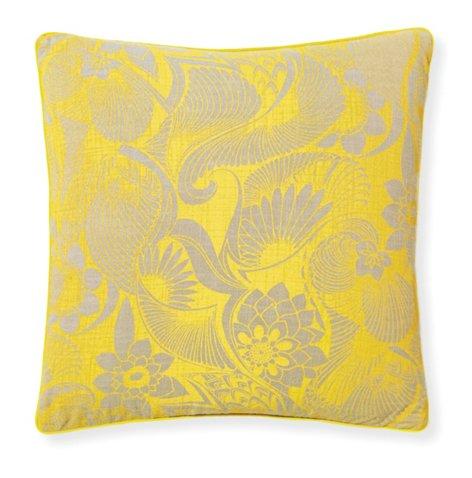 Aubrey Sunshine 20x20 Pillow Yellow Poolside Style Outdoor
