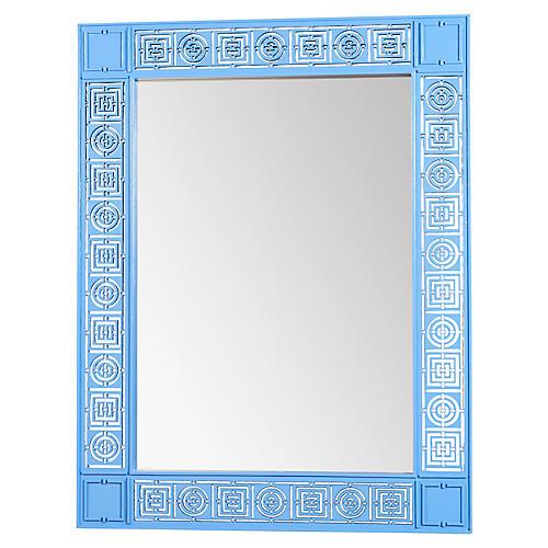 Mayfair Circles Squares Mirror, Blue