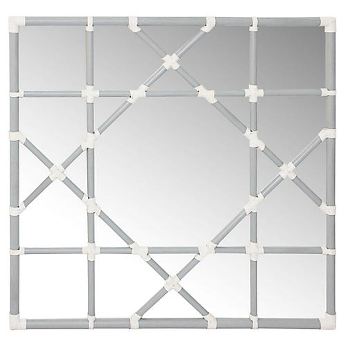 Mayfair Lattice Wall Mirror, Silver