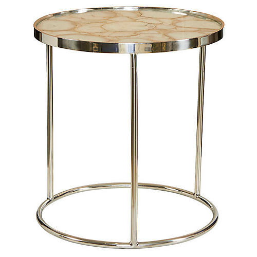 Shanghai Agate Side Table, Natural