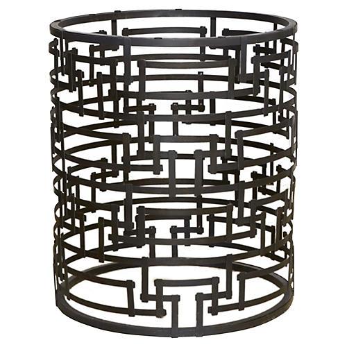 """29"""" Yvans Geometric Pedestal, Steel"""