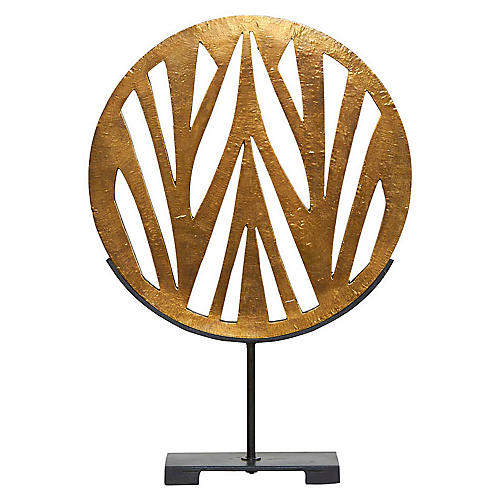 "22"" Mod Abstract Sculpture, Gold"