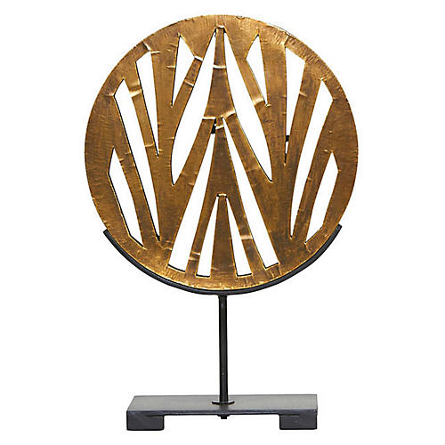 "18"" Mod Abstract Sculpture, Gold"