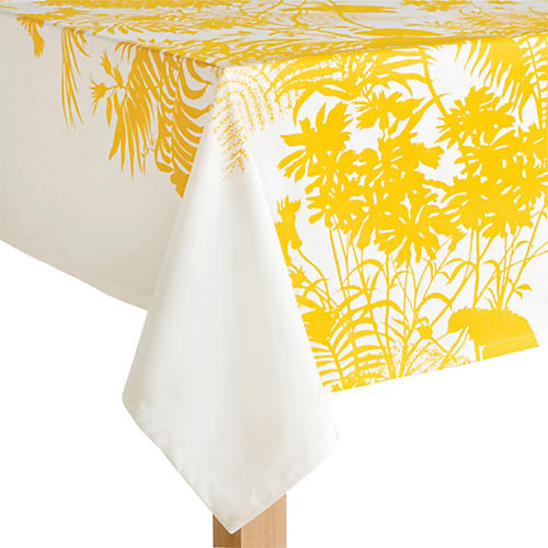 Floral Tablecloth, Yellow