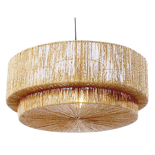 Cocktail 2-Tier Pendant, Natural