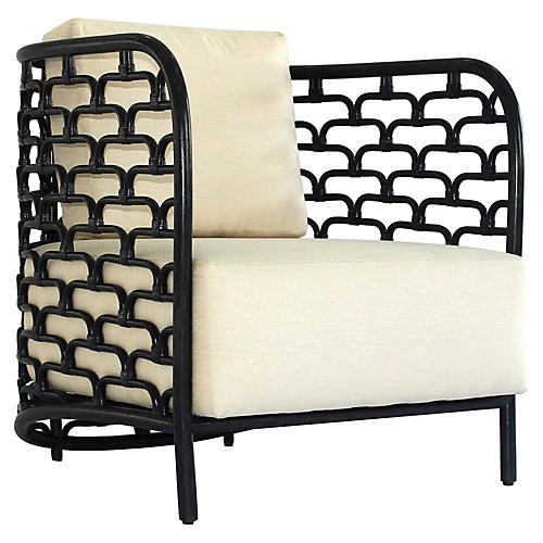Marco Club Chair, Ivory