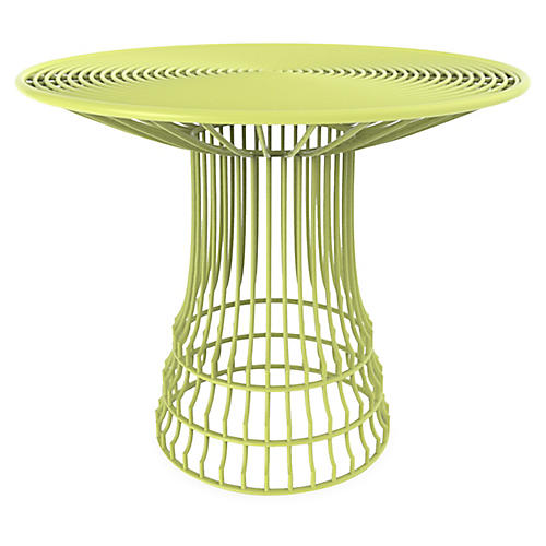Mayfair Outdoor Bistro Table, Green