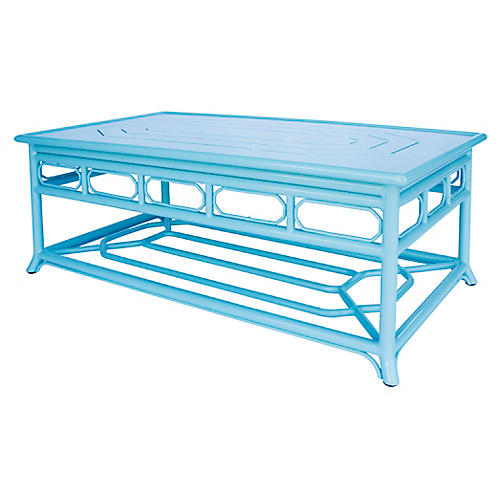 Regeant Outdoor Coffee Table, Blue