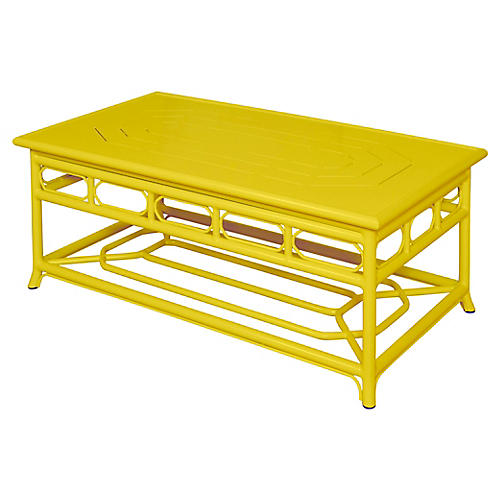 Regeant Outdoor Coffee Table, Yellow