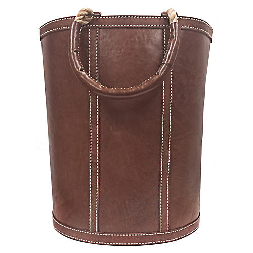 "27"" Abner Tall Log Bag, Hickory/Natural"