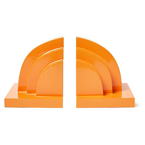 S/2 Henri Bookends, Orange