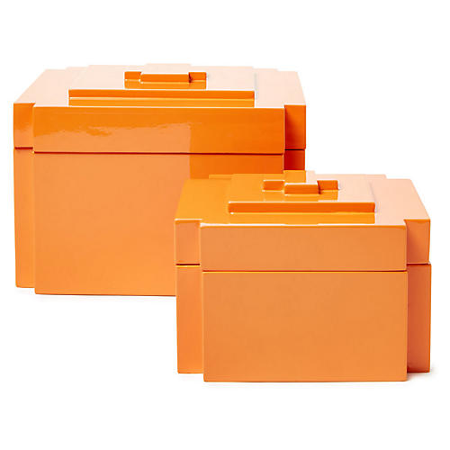 Asst. of 2 Jalk Nesting Boxes, Orange