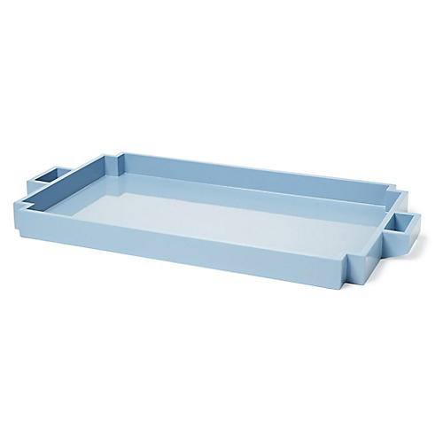 "23"" Wegner Serving Tray, Light Blue"