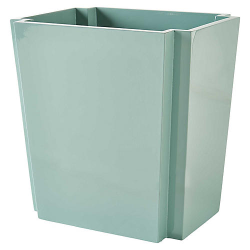 "13"" Korova Wastebasket, Ice Blue"