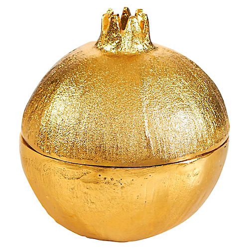 "7"" Pomegranate Accent Piece, Gold"