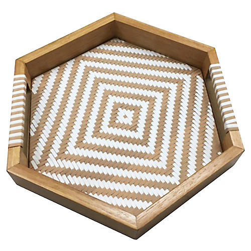 Selva Tray, Natural/White