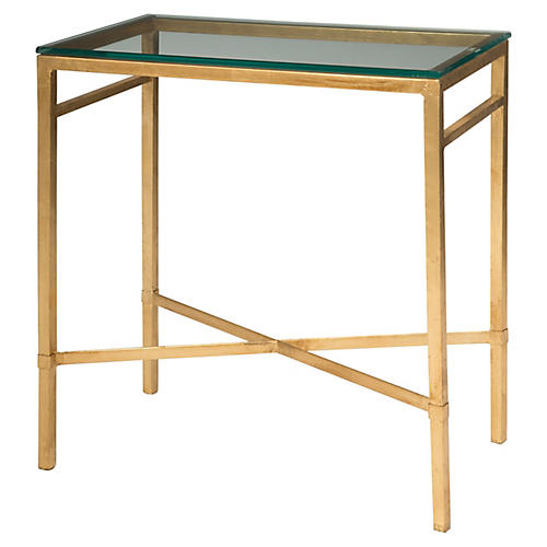 Ainsley Side Table, Gold