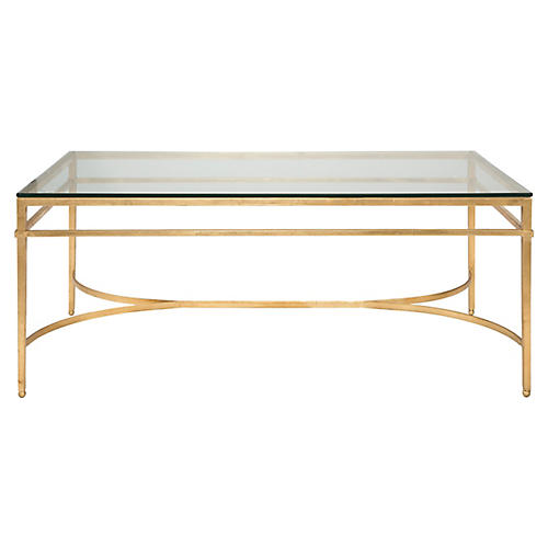 Larsen Glass Coffee Table, Gold