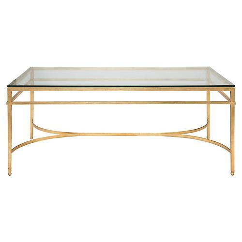 Larsen Glass Coffee Table, Gold