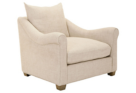 Frida Club Chair, Oatmeal*