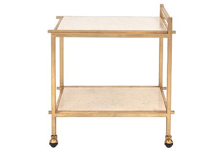 Shiloh Bar Cart, Gold