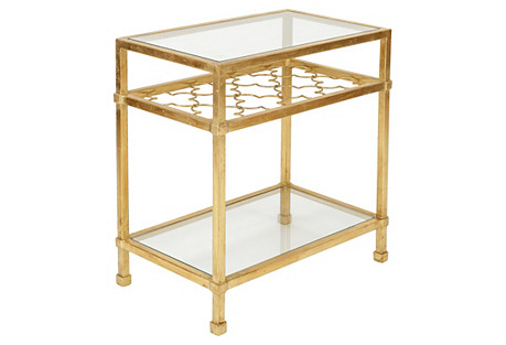 Fargo Side Table, Gold