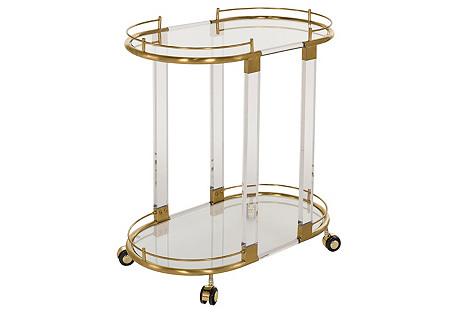 Cass Bar Cart, Gold