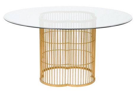 Emma Dining Table, Gold