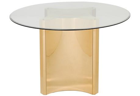 Selene Dining Table, Gold