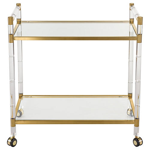 Fiona Bar Cart, Bronze