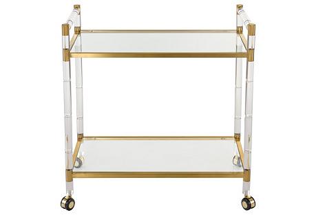 Fiona Bar Cart, Bronze