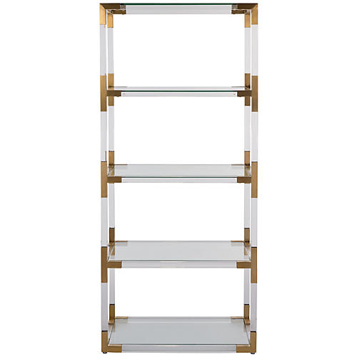 Madeleine Bookcase, Gold