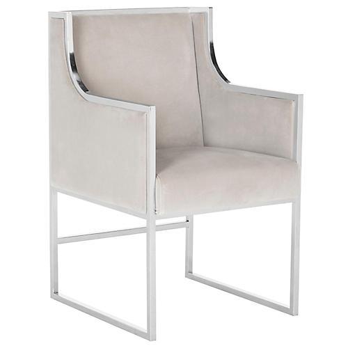 Arteaga Accent Chair, Almond Velvet